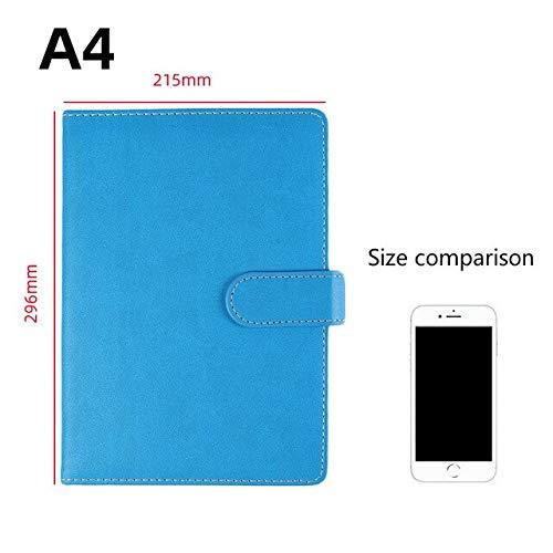 A4 Quadratisches Notizbuch mit Trennwänden Notizblock aus weichem Leder Bürozubehör Übung Undefinierte Bücher für Aufzeichnungen