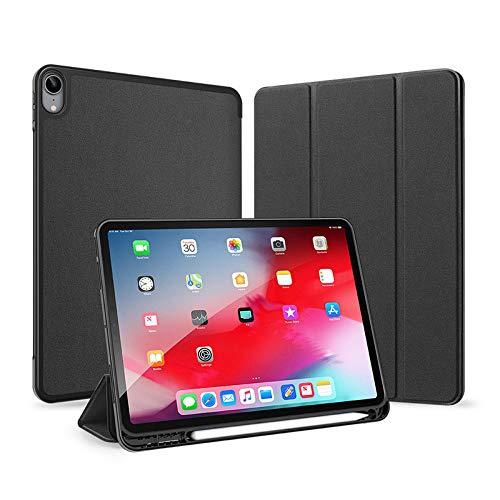 Conveniente para El Desgaste Resistencia A La Caída iPad AIR4 10,9 Pulgadas Tablet Pluma Arnés De La Charola Sueño TPU Flip Cuero Suave Máscara De Soporte De Múltiples Funciones,Negro,iPad Air 4 10.9