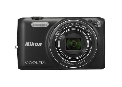 Nikon COOLPIX S6800 16 MP Wi-Fi CMOS Digital Camera with 12x Zoom NIKKOR Lens and 1080p HD Video (Black) (Discontinued by Manufacturer)