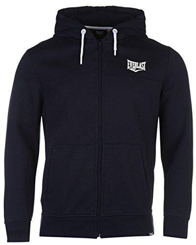 Everlast Kapuzenpullover Hoodie Hoody Zipjacke Sport Sweater Herren NEU bis 4XL (L, Navy)