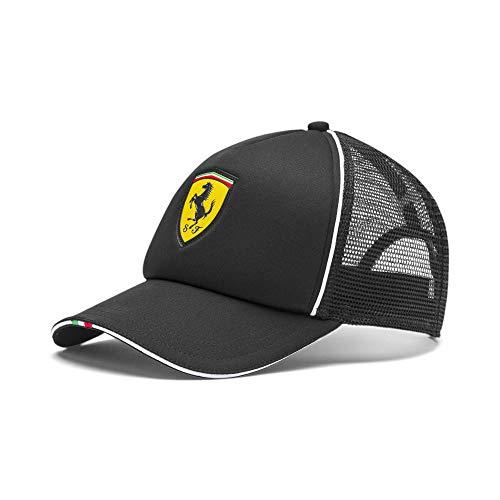 PUMA x Scuderia Ferrari Fanwear Adjustable Strapback Trucker Cap Hat (Black)
