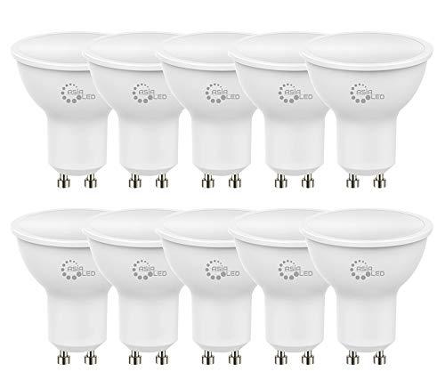 10 x Lampadina LED GU10 7W Faretto Spotlight, 700 Lumen, Fascio Luminoso110°,Non Dimmerabile [Classe di efficienza energetica A+] (Luce Naturale 4000k)