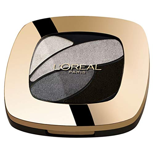 L'Oréal Paris Color Riche Quads Eyeshadow, E5 Velours Noir - Lidschatten Palette für ein intensives, sinnliches Farbergebnis - 1er Pack (1 x 2,5g)
