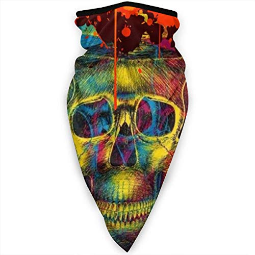 Blurred Skull Balaclava Face Mask Ski Cycling Face Scarf Mask Neck Gaiter black