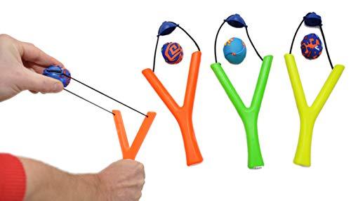 jameitop® Wasserbomben ZWILLE 3er Set inkl. Wasserball - Platsch Spaß Spielzeug Schleuder