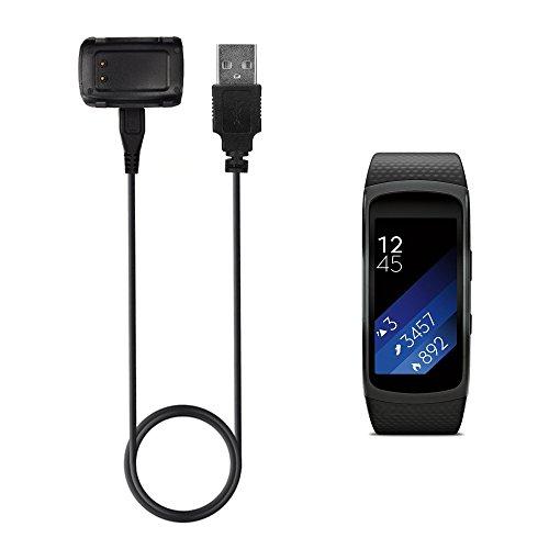TUSITA Ladegerät für Samsung Gear Fit 2 - USB Ladekabel Kabel Ladestation Datenkabel 100cm - Smartwatch Zubehör