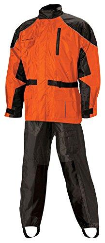 Nelson Rigg Unisex Adult AS-3000-ORG-02-MD Aston Motorcycle Rain Suit 2-Piece, (Orange, Medium)