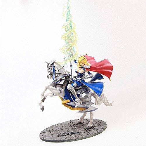 Figura de acción de Fate / Grand Order, figura de Arturia Pendragon de 17.7 pulgadas, versión Lancer, postura de montar a caballo, modelo de juego de material de PVC para decoración de colecci