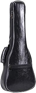 TOOGOO 23Inch Small Guitar Bag PU Leather Waterproof Guitar Ukulele Uke Bag Case Backpack Guitar Parts & Accessories Black