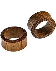 Dilatatori marca Chic-Net in legno di teak con venature, colore: marrone