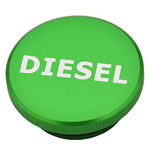 XJMOTO Fuel Cap Magnetic Billet Aluminum Green for 2013-2018 Dodge Ram 1500 2500 3500 Pick-up Truck
