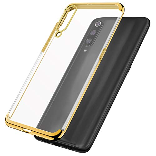 mtb more energy Funda TPU Elegance para Huawei P40 Lite (6.4'') - Oro - Flexible - Frame Marco Case Cover Estuche