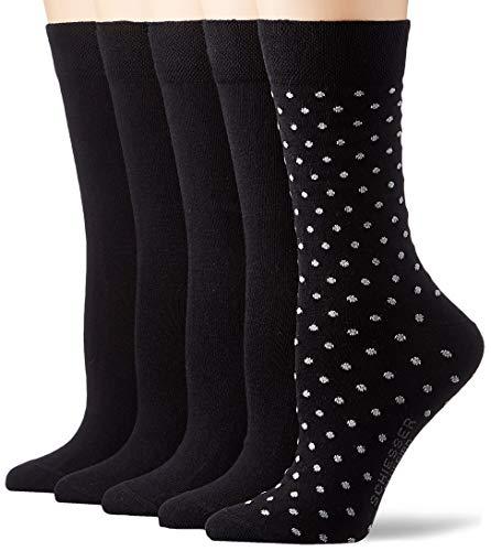 Schiesser Damen Multipack 5 Pack Damensocken Strümpfe Socken, Sortiert 3, 35-38 EU