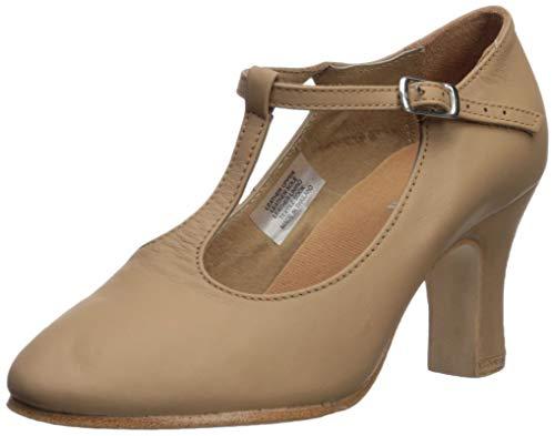 "Bloch Women's Chord T-Bar Strap 3"" Dance Shoe, tan, 9 Medium US"