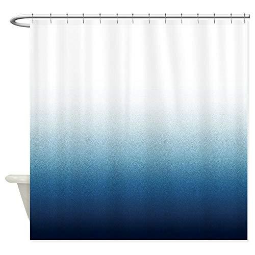 dsgrdhrty CafePress blauen Farbverlauf Badezimmer Duschvorhang dekorativen Stil wasserdicht 180x180