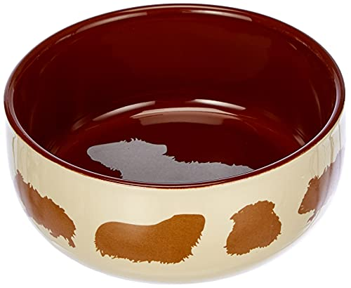 TX-60732 Ceramic Bowl for guinea pigs 250 ml, 11 cm, farblich sortiert
