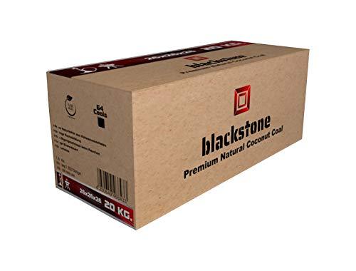 blackstone Premium Shishakohle Kokosnuss Coco Naturkohle für Wasserpfeife & Grill - Geschmacksneutral, geruchlos, Lange Brenndauer, geringer Ascheanteil (20 kg)