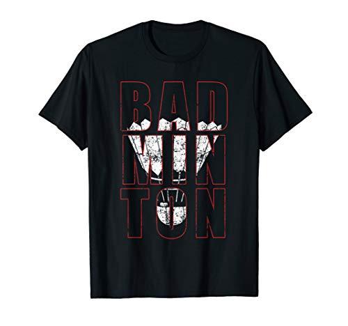 BADMINTON Federball Sport Geschenk Hobby Ball Herren Damen T-Shirt