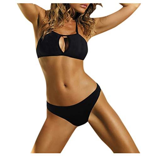 Buy Discount 2020 Summer Bikini for Womens Mlide Sexy High Cut Out Swimsuit Set High Waist Beachwear...