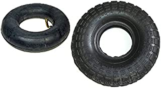 AlveyTech 4.10/3.50-4 Tire and Tube Set with Knobby Tread for Scooters and Mini ATVs