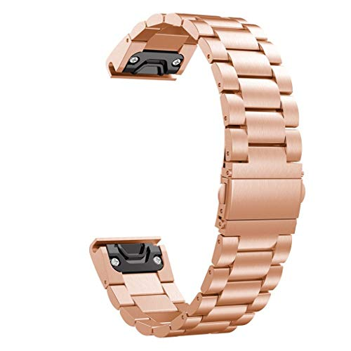 TeaBoy Compatible with Garmin Fenix 6S/5S Bands 20MM Easy Fit Sport Stainless Steel Watch Bands Replacement Bracelet Strap Compatible with Fenix 5S/Fenix 6S Plus Smartwatches