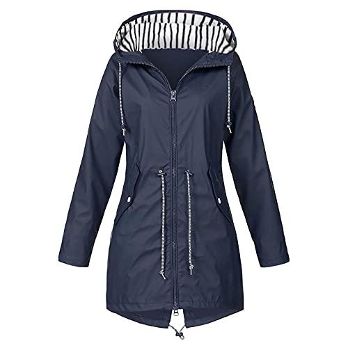 Women's Rain Jacket Lightweight Hooded Windbreaker Packable Active Outdoor Raincoat Waterproof Coats