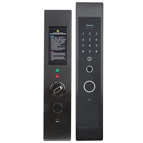 Cerradura de puerta inteligente, llave mecánica, cerradura de puerta antirrobo, desbloqueo de seguridad para el hogar, cerradura de puerta con huella digital, con huella digital inteligente de aleació