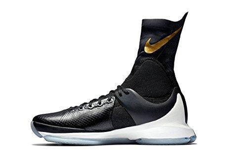 Nike Herren Kd 8 Elite Basketballschuhe, schwarz Metallic Gold Segel, 45 EU