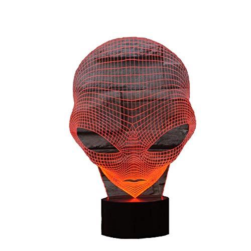 3D Lampe USB Power 7 Farben Erstaunliche Optische Täuschung 3D Wachsen LED Lampe Alien Formen Kinder Schlafzimmer Nachtlicht Geburtstagsgeschenk Weihnachtsgeschenk für Freunde Kinder
