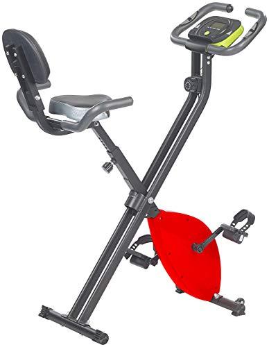 PEARL sports Hometrainer: Klapp-Heimtrainer mit Rückenlehne, Tablet-Halter, 2,5 kg Schwungmasse (klappbare Schwungmasse Trainer)