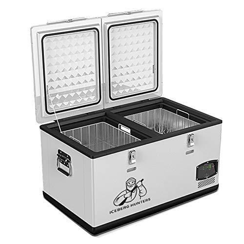 GAOXIAOMEI Refrigerador Eléctrico Refrigerador Portátil Congelador Compacto Vehículo Frigorífico para Automóvil, RV, Vehículo, Barco, Uso Doméstico, Viajes, Camión De Camping Fiesta (75 litros)