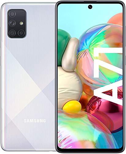 Samsung Galaxy A71 Smartphone Bundle (16,4cm (6,5 Zoll) 128 GB interner Speicher, 4 GB RAM, Dual SIM, Android inkl. 30 Monate Herstellergarantie, Metallic Silver [Exklusiv bei Amazon] Deutsche Version