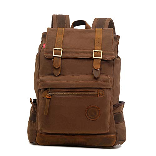 Travel Laptop Backpack, Large College Backpack for Men and Women,Waterproof Large Business Computer Backpack, Suitable for 17-inch Laptop (Color : Coffee color)