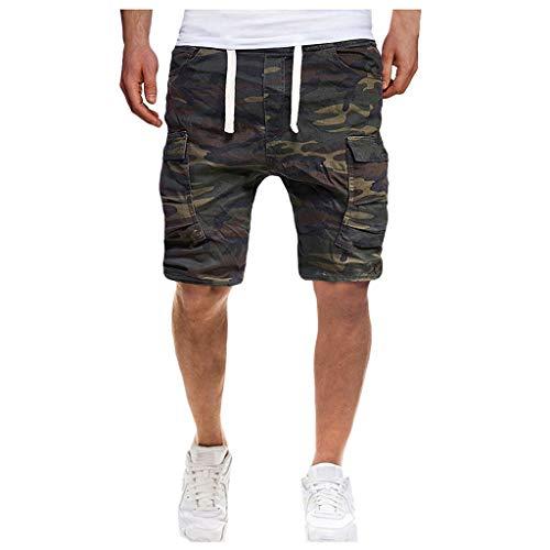 PPangUDing Herren Training Shorts Fitness Hose Elastic Sommer Camouflage Gedruckt Freizeitshorts Bermuda Kurze Hose Strandhose Beachshorts Jogginghose Jogginghose Sporthose Laufshorts