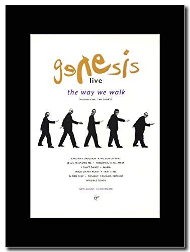 Genesis - Live...The Way We Walk...The Shorts ...Magazin Promo auf einem schwarzen Berg