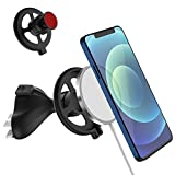 TOLUOHU for Magsafe CD Slot Car Phone Mount 2 Pack Set, Dashboard/Office/Home Table Desk 360° Phone Holder Compatible with MagSafe Charger for Phone 12,12 Pro, 12 Mini, 12 Pro Max