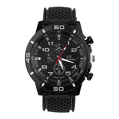 #N/V Reloj de pulsera masculino de moda de acero inoxidable de los deportes de cuarzo relojes de hombre reloj deportivo resistente al agua tendencia de la moda