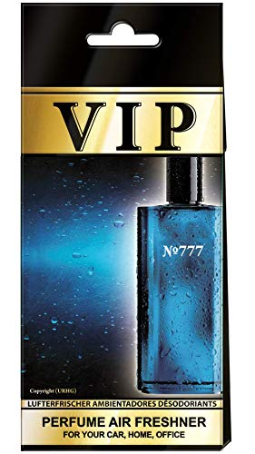 Caribi 5x VIP Car, Home of Office Luchtverfrisser met parfumgeur van nr. 777 - Davidoff Cool Water