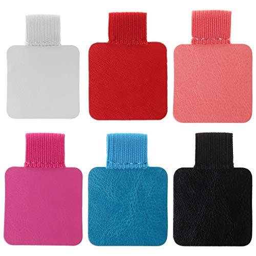 Foshan Cgration - 3 piezas cuadradas de cuero autoadhesivo con clip de lápiz elástico para cuadernos, revistas, portapapeles, titular de bolígrafos