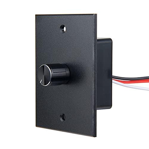 Obeaming DC 12V LED Dimmschalter, 3 Drähte Hohe Seite 12 Volt PWM Dimmer Knopf Kontrolle Helligkeit für Wohnmobil Auto Boot Camper Wohnwagen, Funktioniert mit LED, Halogen, Glühlampen, LED Streifen