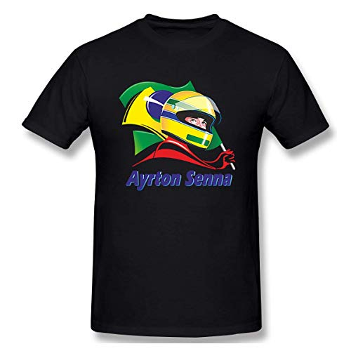 Ayrton Senna Logo Men's Cotton T-Shirt Short Sleeve Tee