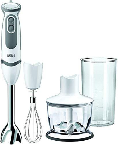Braun MQ5035 Sauce Mixer a Immersione, Minipimer, 750 W, 0.6 Litri, Plastica, 21 velocità, Bianco