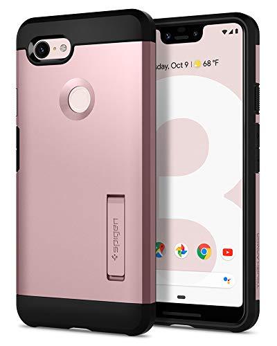 Spigen Tough Armor, Google Pixel 3 XL Hülle, F20CS25025 Stoßabweisende Doppelte Schutzschicht Handyhülle für Extrem Fallschutz Schutzhülle Hülle (Rose Gold)