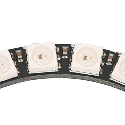 Anillo LED RGB de un solo anillo de 24 bits, anillo LED encadenable para iluminación del hogar
