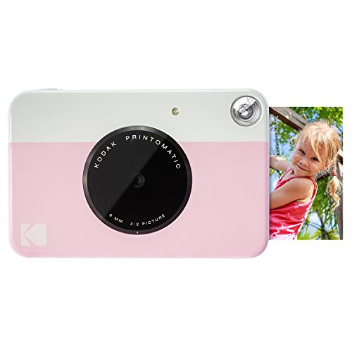 Kodak PRINTOMATIC Digital Instant Print Camera (Pink), Full Color Prints On ZINK 2x3 Sticky-Backed Photo Paper - Print Memories Instantly