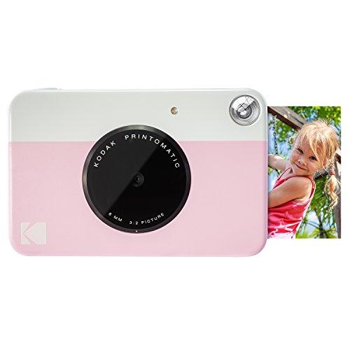 Kodak Printomatic - Cámara de impresión instantánea, imprime en Papel Zink 5 x 7.6 cm con respaldo adhesivo, rosado