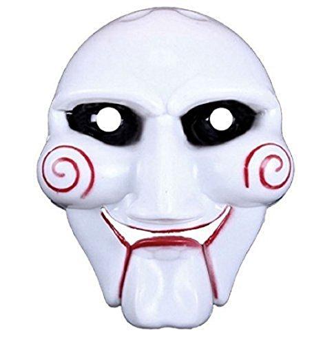Inception Pro Infinite Maschera per Costume - Travestimento - Carnevale - Halloween - Saw - l' Enigmista - Assassino - Colore Bianco - Adulti - Uomo - Ragazzo