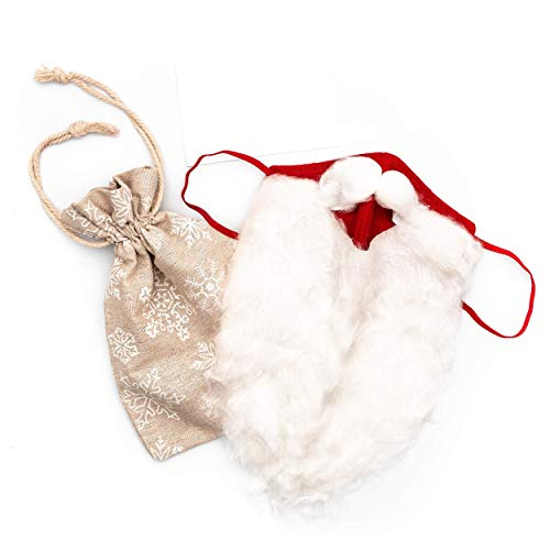 Hynec Technologies Christmas Santa Face Covering - Handmade in UK, Comes in a Gift Bag - Perfect as a fun and as a festive outfit, toy and much more excellent gift