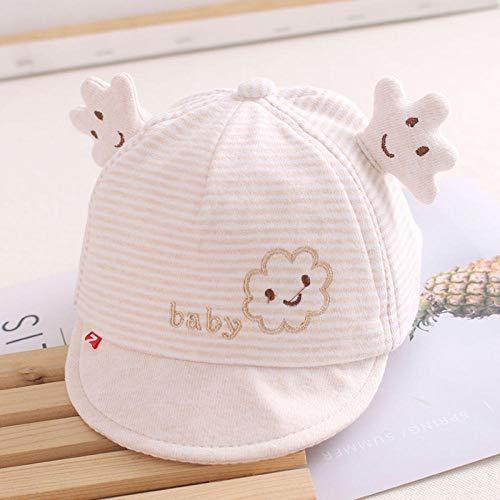 MIBQM Unisex Baby Hut mit Ohren Cartoon Cap Sommer Herbst Soft Cotton Infant Baseball Cap 0-1 Jahre alt-Beige