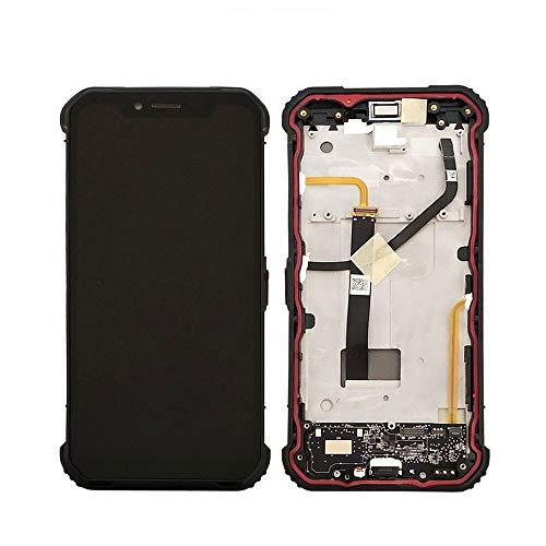 Blackview BV9600 Proの6.21インチのタッチパネル2160x1080 LCDスクリーンアセンブリの交換携帯電話のスクリーン交換用オリジナルLCDディスプレイフィット (Color : Silver)